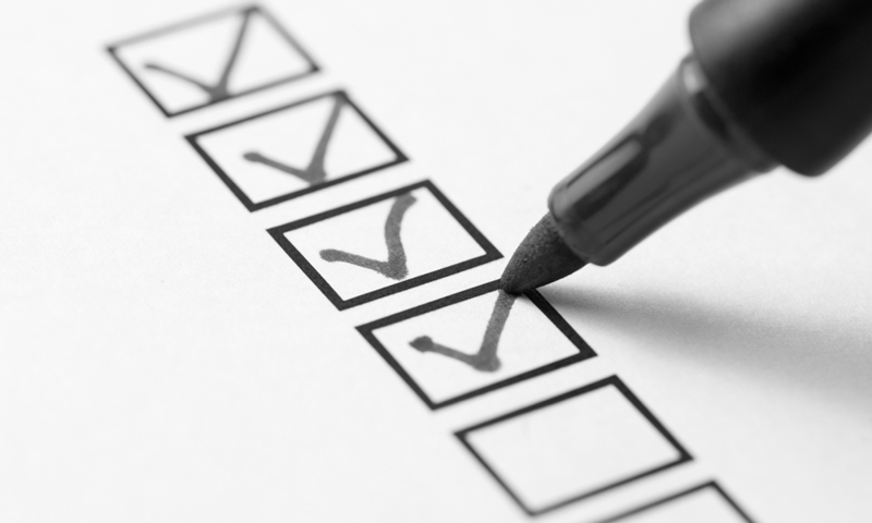 marketing online checklist
